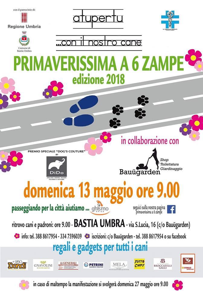 """Sostieni Ghismo Onlus partecipando all'evento """"PRIMAVERISSIMA A 6 ZAMPE"""" – 13 Maggio 2018 – Bastia Umbra"""